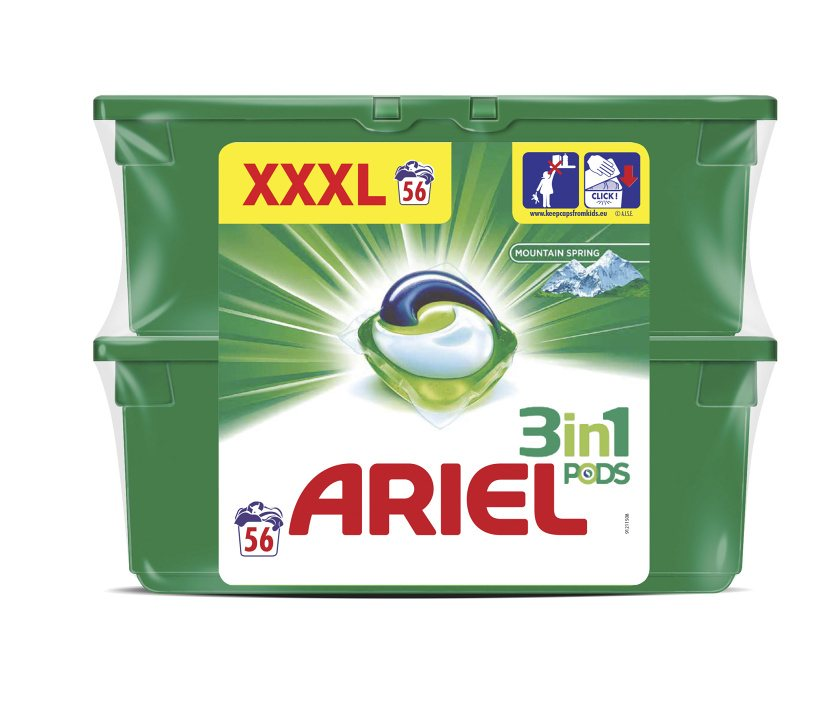Ariel Mountain Spring Power Capsules 56ks