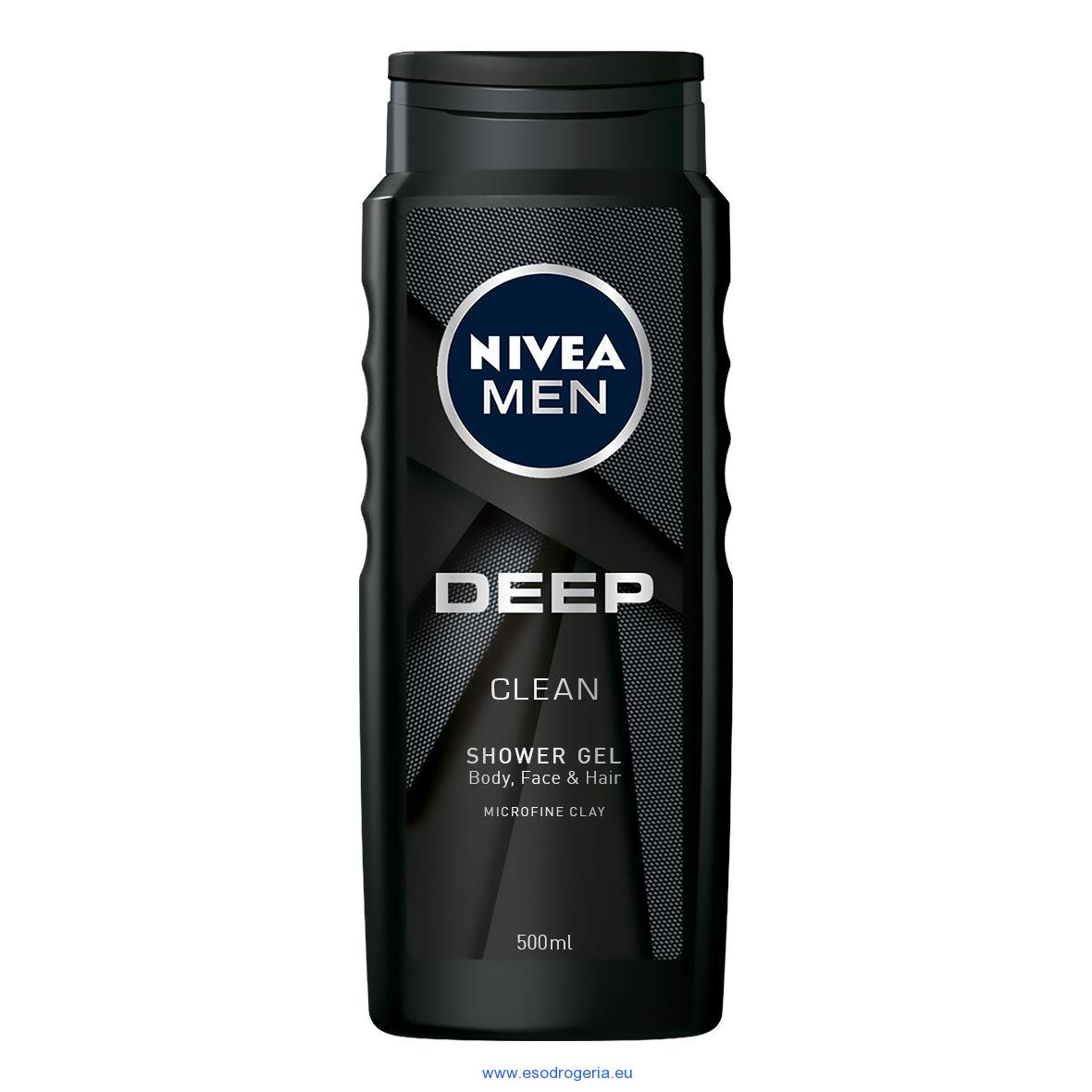 Nivea Men sprchový gél deep clean 500ml
