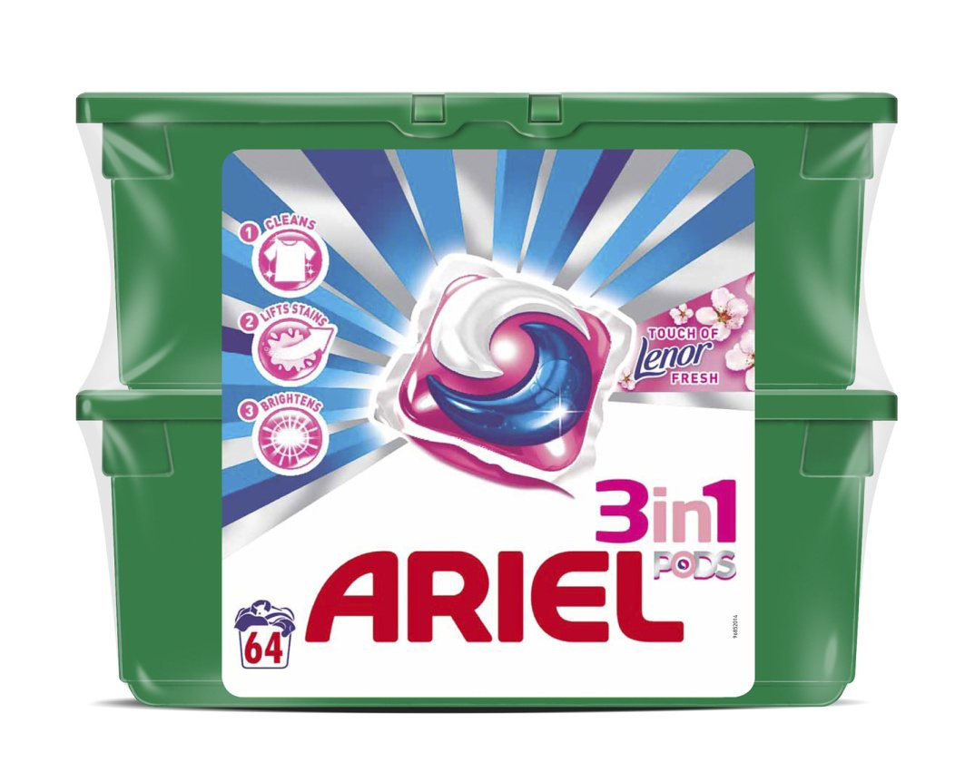 ARIEL POWER CAPSULES TOUCH of LENOR FRESH 64KS / 793