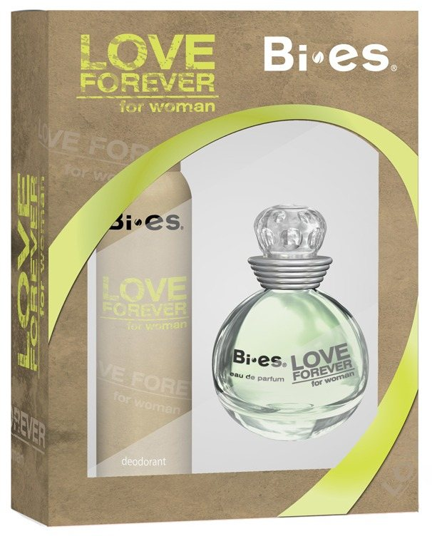 BI-ES KAZETA LOVE FOREVER GREEN WOMAN EDP 100ML+DEO 150ML