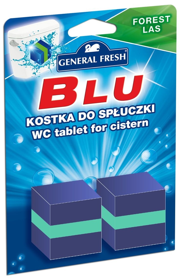 GENERAL FRESH BLU KOCKA DO WC SPLACHOVAČA LES 2X50G