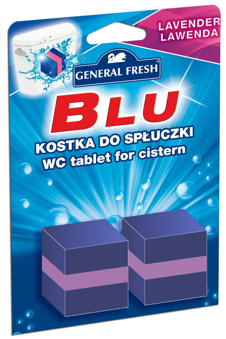 GENERAL FRESH BLU KOCKA DO WC SPLACHOVAČA LEVANDUĽA 2X50G