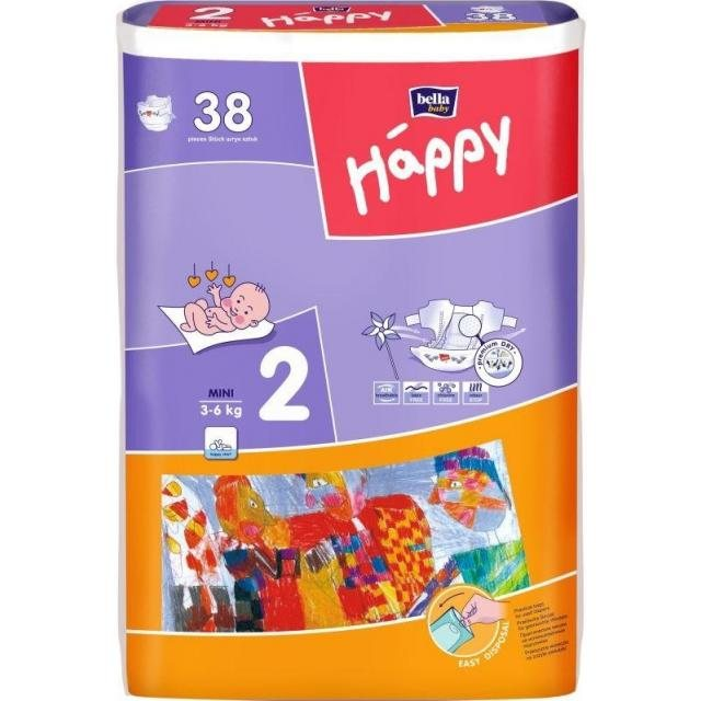 BELLA HAPPY STREDNÉ 3-6KG MINI 38KS
