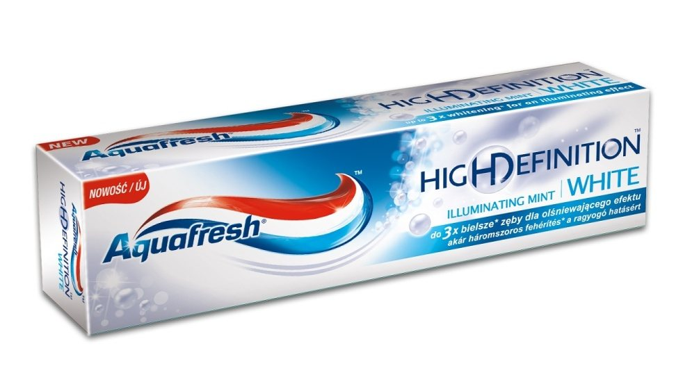 AQUAFRESH ZUBNÁ PASTA HD ILLUMINATING MINT WHITE 75ML