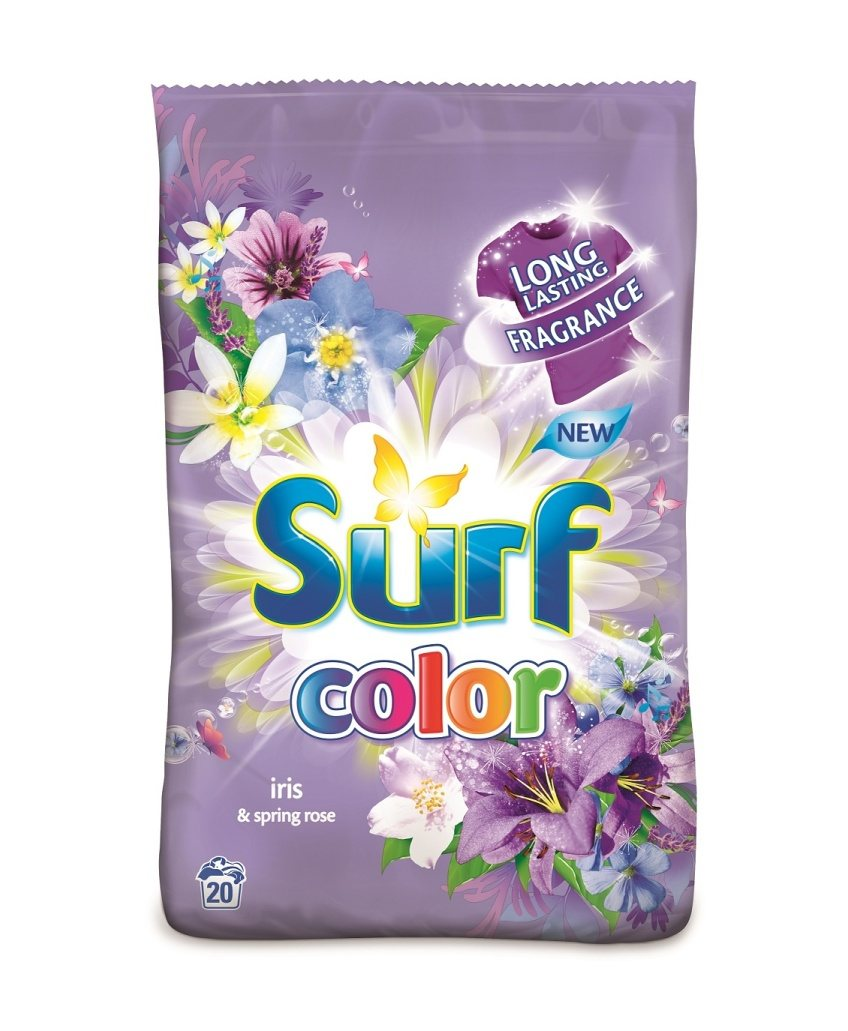 SURF IRIS & SPRING ROSE PRACÍ PRÁŠOK COLOR 1,4KG / 20PD