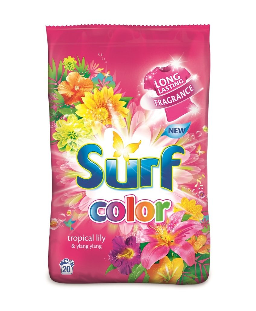 SURF TROPICAL LILY & YLANG YLANG PRACÍ PRÁŠOK COLOR 1,4KG / 20PD