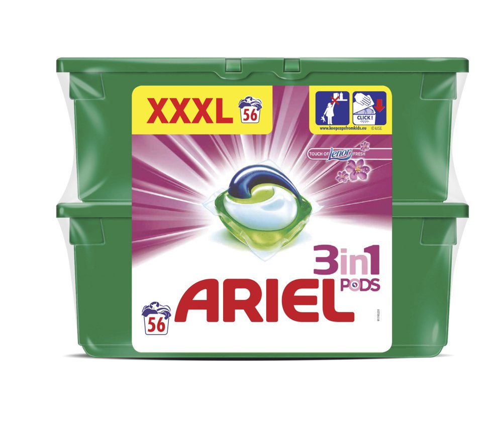 Ariel Touch of Lenor fresh Power Capsules 56ks