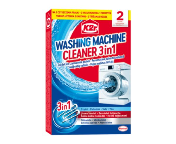 K2r WASHING MACHINE CLEANER 3IN1 ČISTIČ PRÁČKY 2KS