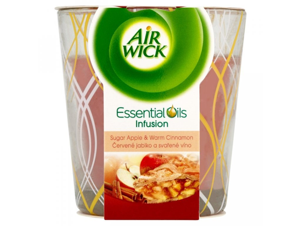 AIR WICK VONNÁ SVIEČKA V SKLE SUGAR APPLE & WARM CINNAMON 105G