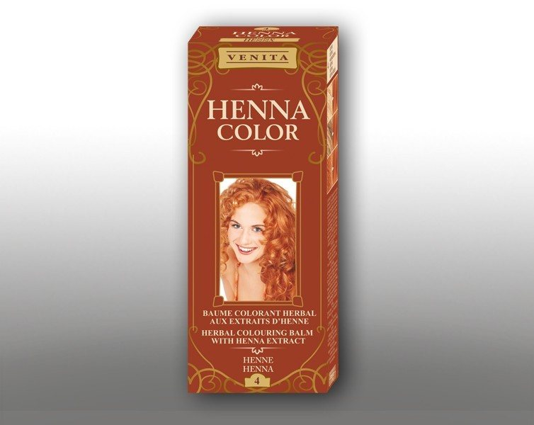 HENNA 75ML BYLINNÝ BALZAM COLOR 4 HENNA