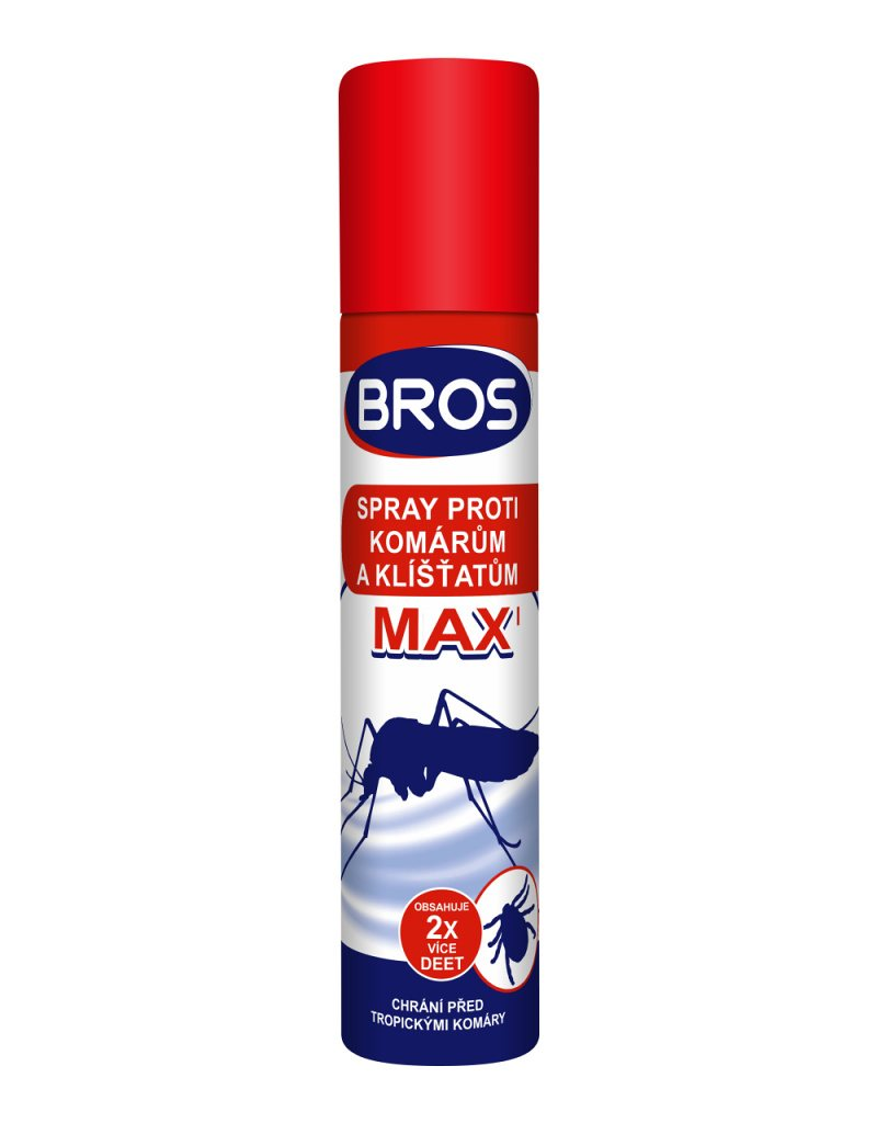Bros Spray Max proti kliešťom a komárom 90ml