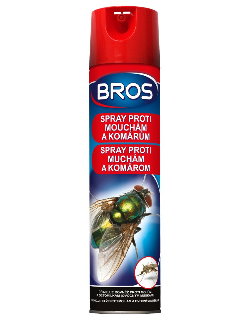Bros Spray proti muchám a komárom 400ml