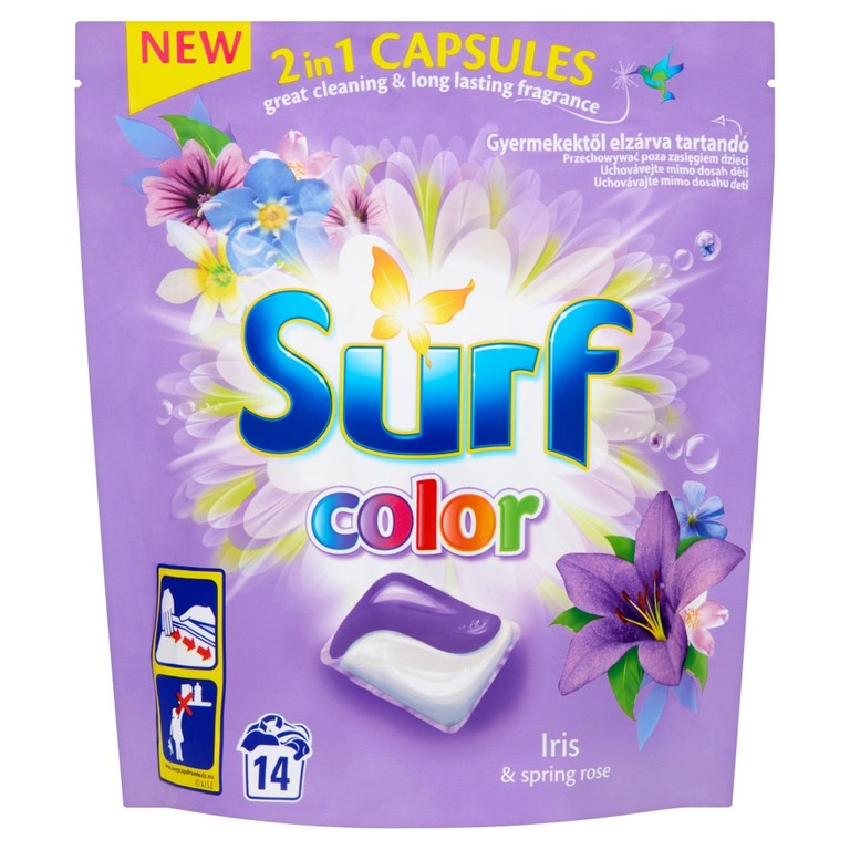 SURF IRIS & SPRING ROSE PRACIE KAPSULE COLOR 14KS / 14PD