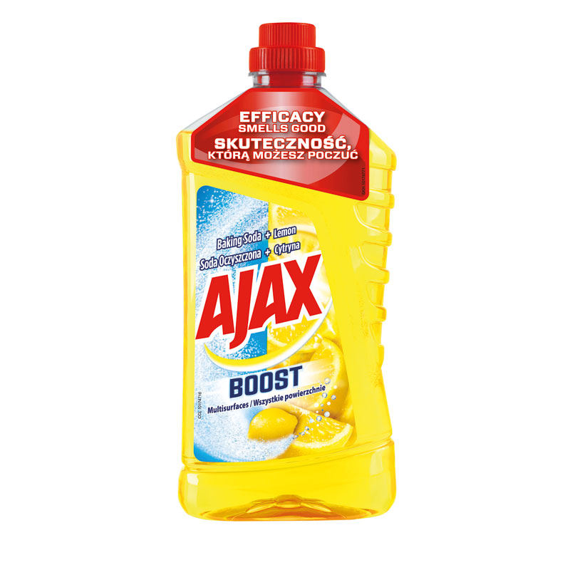 Ajax active soda lemon 1L