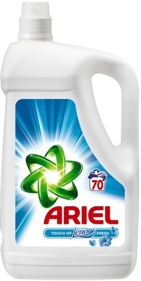 Ariel touch of lenor gél 3,85L / 70PD