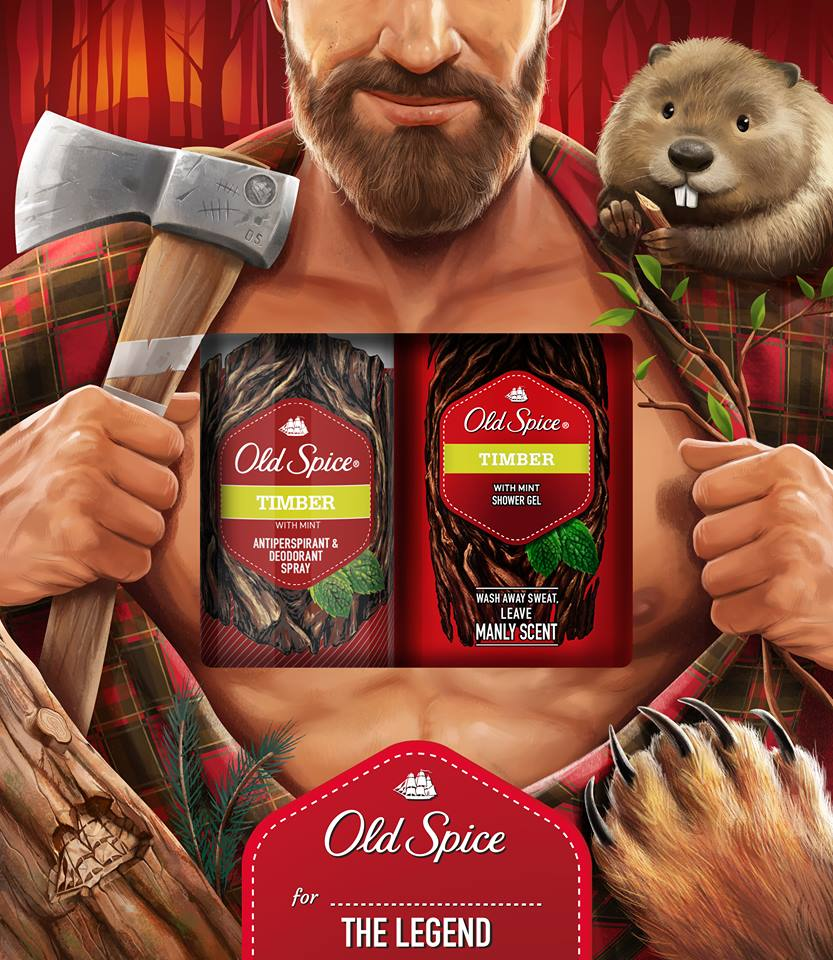 Old spice vianočná kazeta timber DEO 150ml +SG 250ml