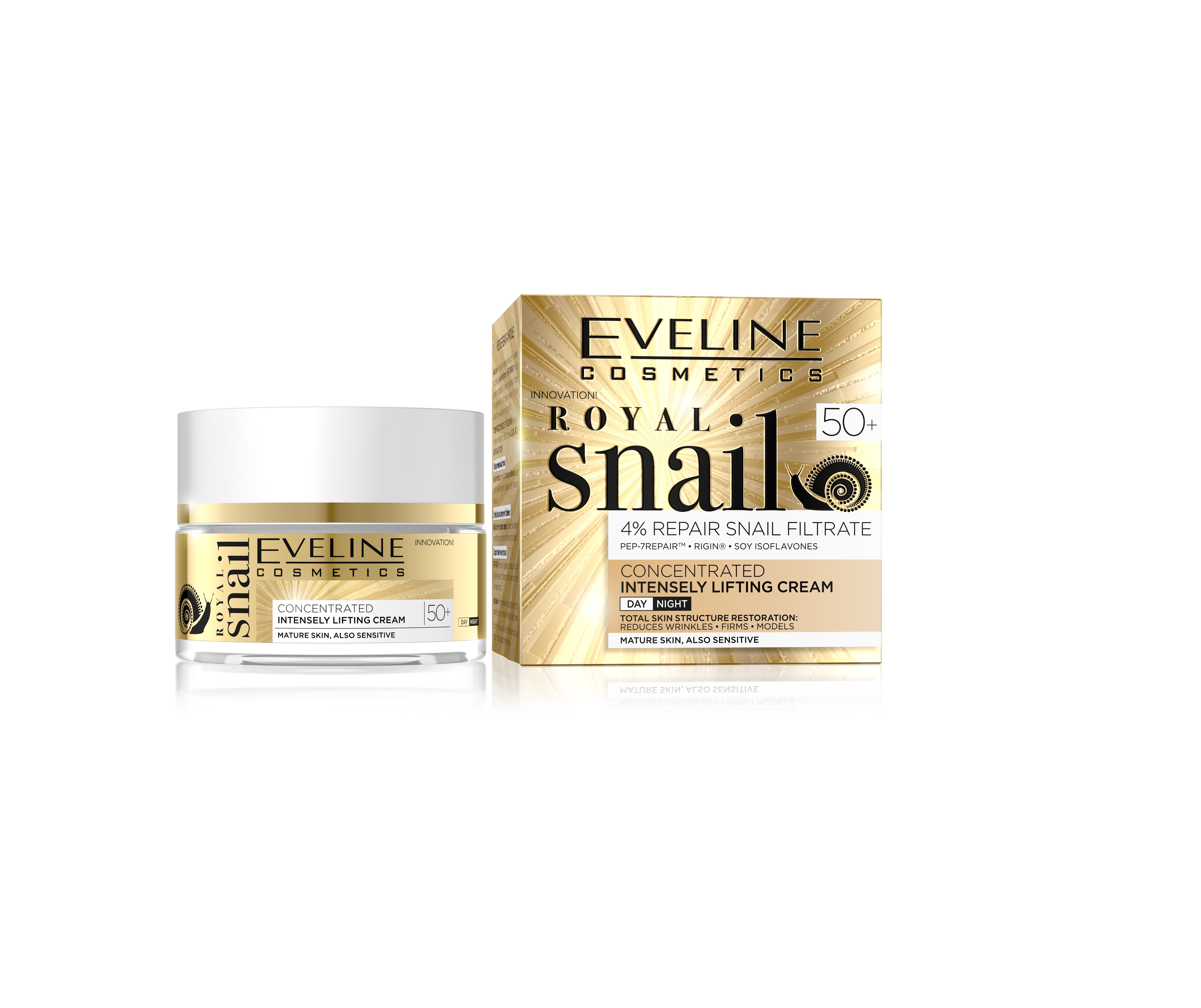 Eveline royal snail liftingujúci krém 50+ 50ml