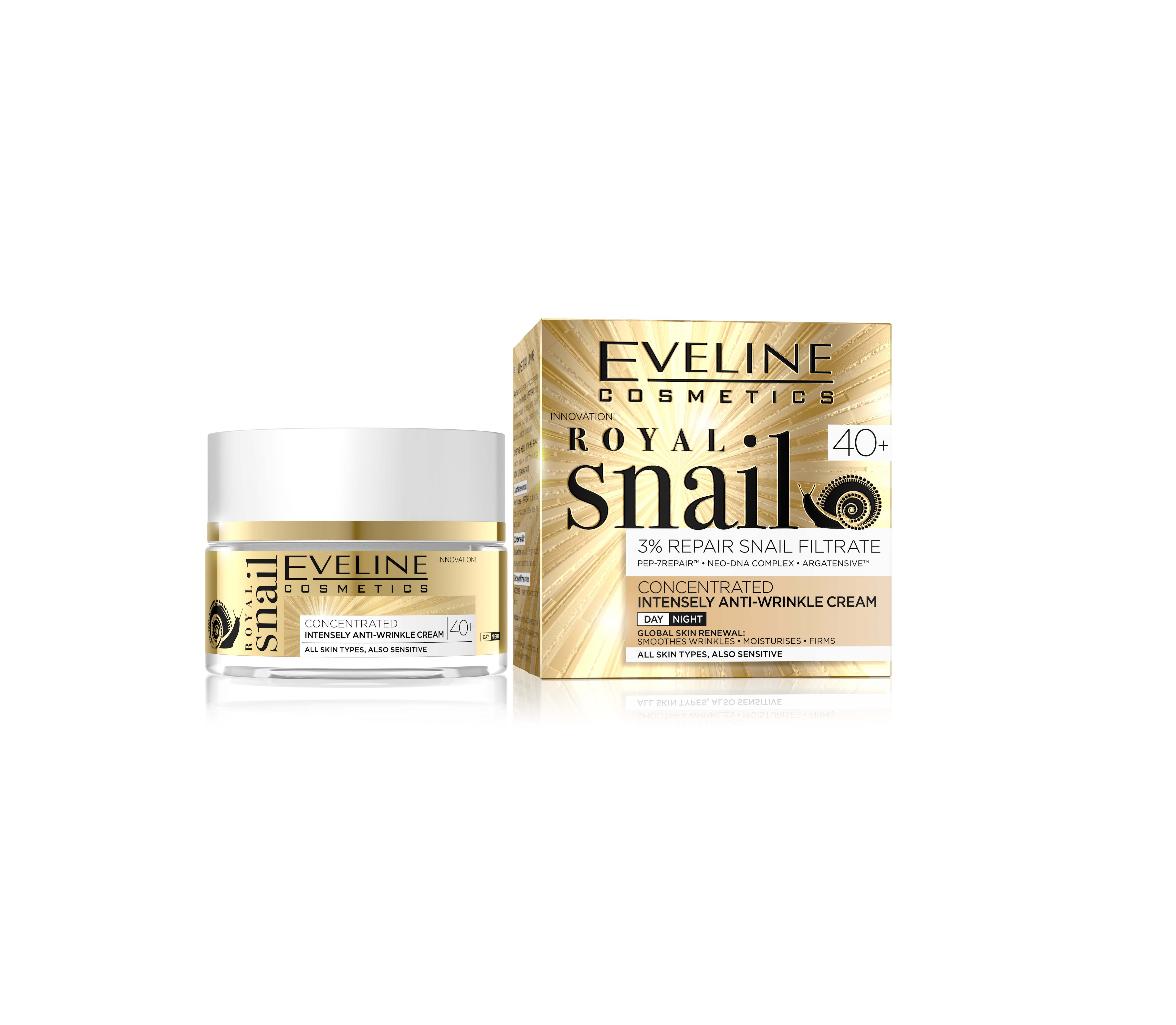 Eveline royal snail protivráskový krém 40+ 50ml