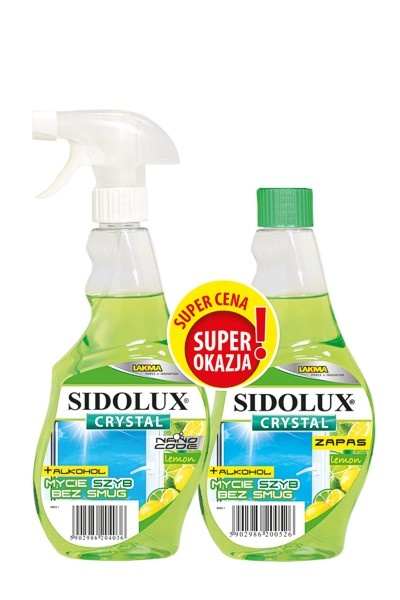 Sidolux crystal na okná citrón 500ml + NN citrón 500ml