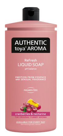 AUTHENTIC Toya AROMA  tekuté mydlo cranberries & nectarine 600ml