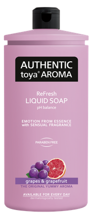 AUTHENTIC Toya AROMA  tekuté mydlo hrozno & grapefruit 600ml