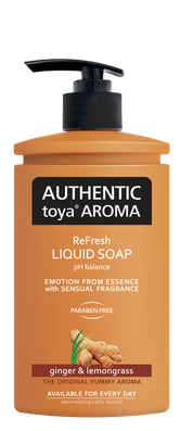 AUTHENTIC Toya AROMA  tekuté mydlo ginger & lemongrass 400ml