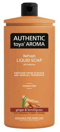 AUTHENTIC Toya AROMA  tekuté mydlo ginger & lemongrass 600ml