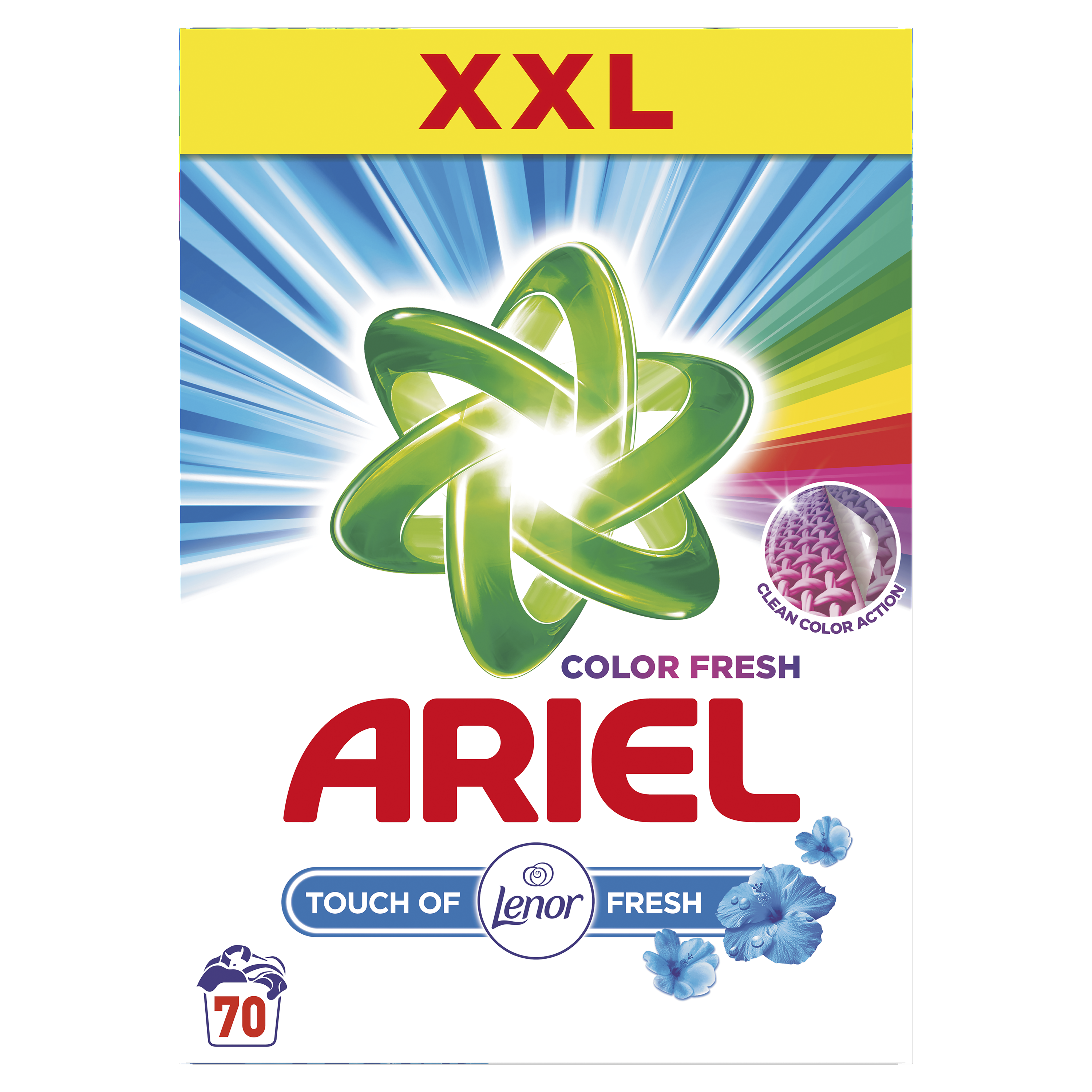 Ariel Touch of Lenor Fresh Color 5,25kg  / 70 pracích dávok