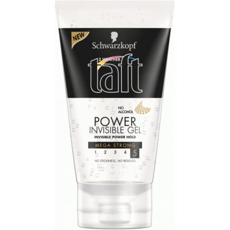 Taft gél na vlasy power invisible 150ml