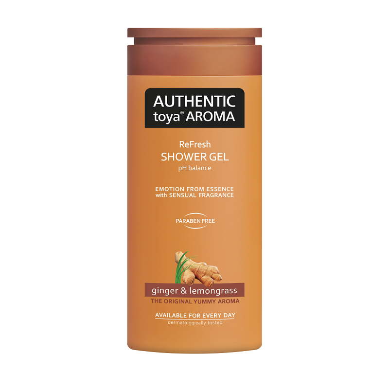 Authentic Toya Aroma Ginger & Lemongrass sprchový gél 400ml