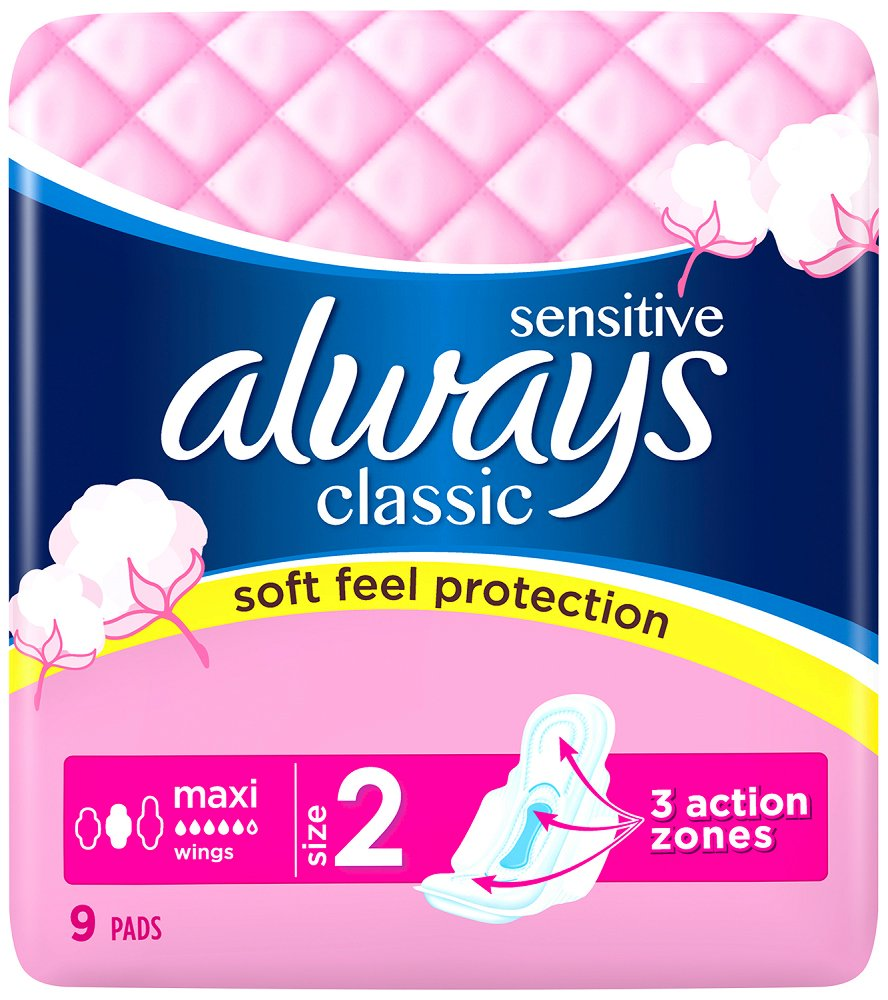 Always Classic 9ks Maxi Sensitive