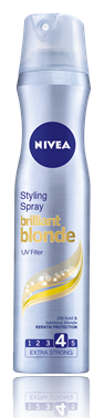 NIVEA LAK NA VLASY BRILLIANT BLONDE EXTRA STRONG 4 - 250ML
