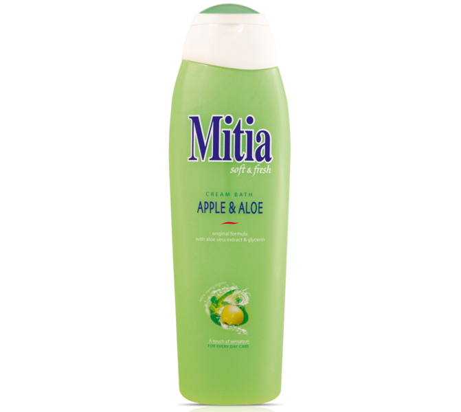 MITIA 750ML PENA DO KÚPEĽA APPLE & ALOE