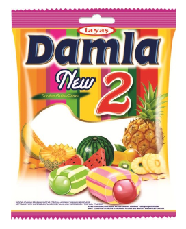Damla karamelky Tropical fruit 1000G