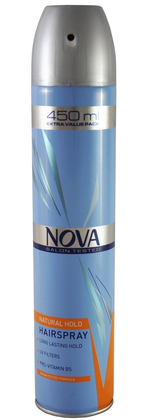 NOVA LAK NA VLASY NATURAL HOLD 450ML